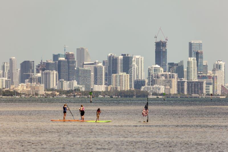 Linia horyzontu Miami, Floryda obraz stock