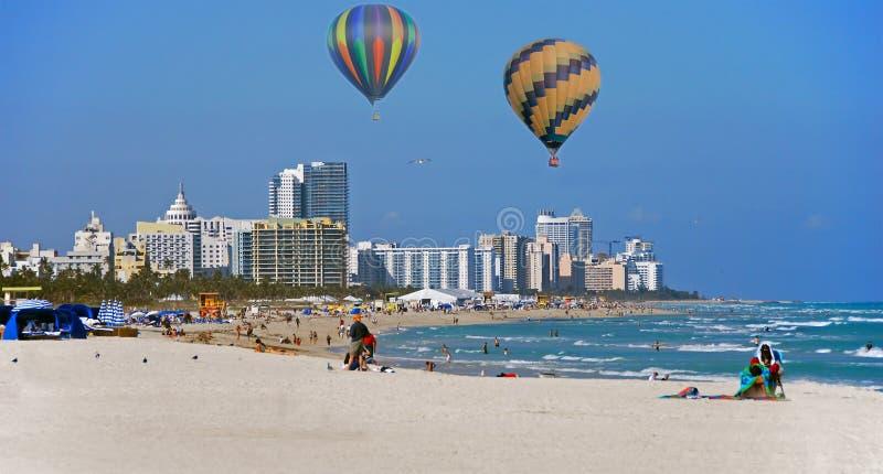linia horyzontu Miami plażowa zdjęcie royalty free