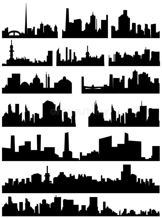 linia horyzontu miasto. obraz royalty free