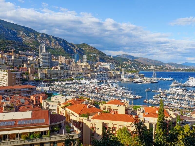 Linia horyzontu Monaco fotografia stock
