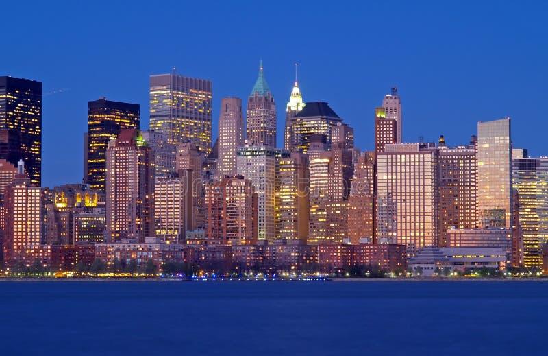 linia horyzontu niższa Manhattan zdjęcie royalty free