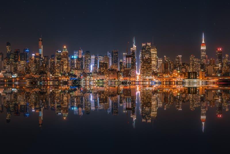 linia horyzontu niższa Manhattan fotografia stock