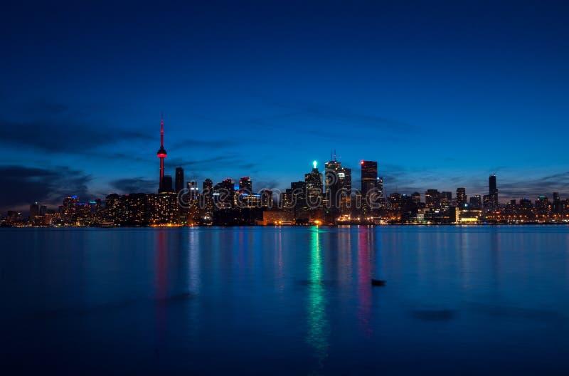 linia horyzontu nocy Toronto zdjęcia stock