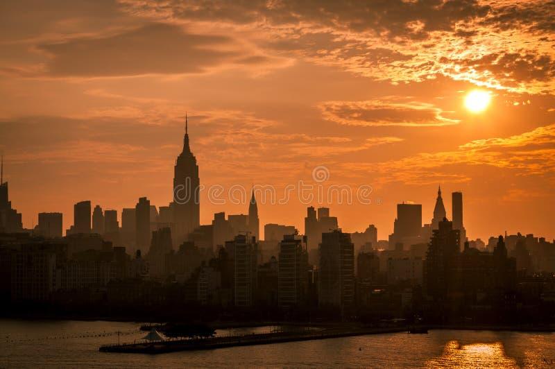 linia horyzontu nowego Jorku ' obraz stock