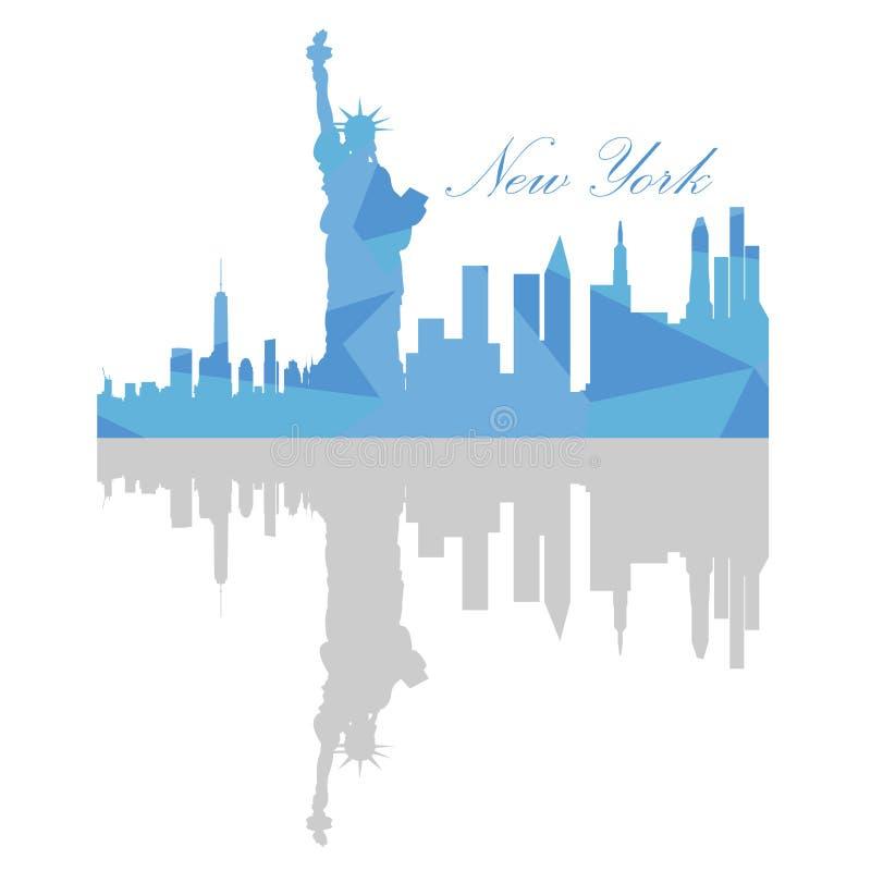 linia horyzontu nowego Jorku ilustracji