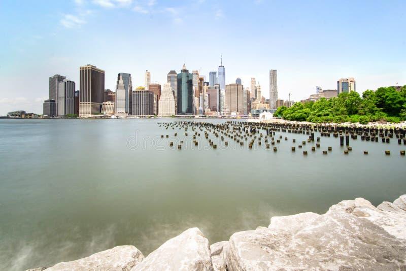Linia horyzontu Nowy Jork Manhattan w ci?gu dnia fotografia stock