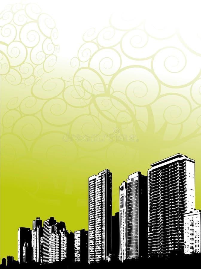 linia horyzontu otoczenia miasta royalty ilustracja