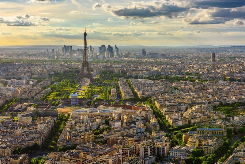 Linia horyzontu Paryż z wieżą eifla w Paryż obraz stock