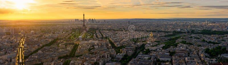 Linia horyzontu Paryż z wieżą eifla w Paryż, Francja obrazy stock