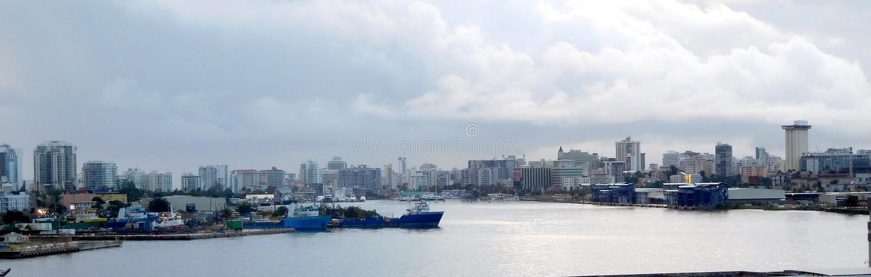 Linia horyzontu Piękny San Juan Puerto Rico obrazy stock
