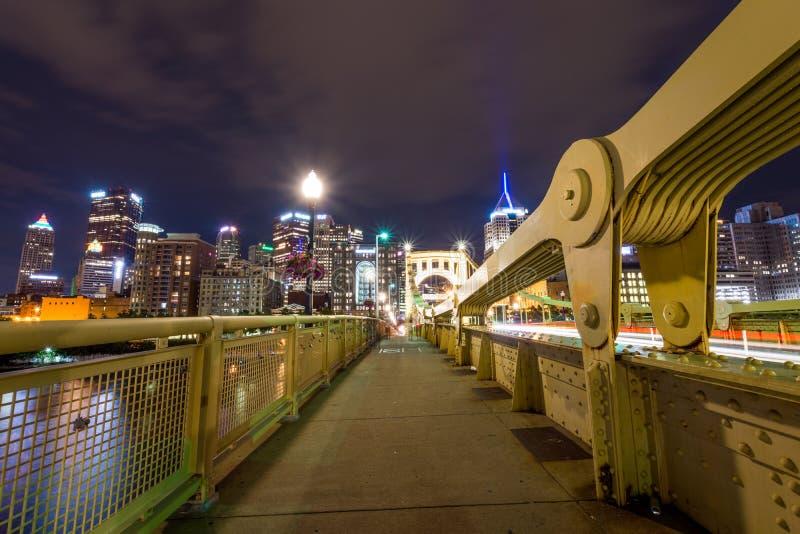 Linia horyzontu Pittsburgh, Pennsylwania fron Allegheny Desantowi acros zdjęcie stock