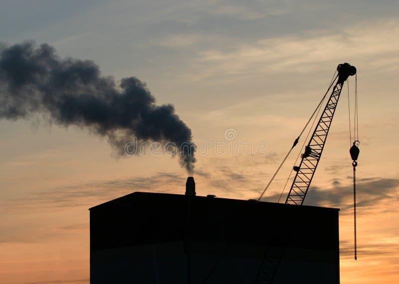 linia horyzontu przemysłowej obrazy stock