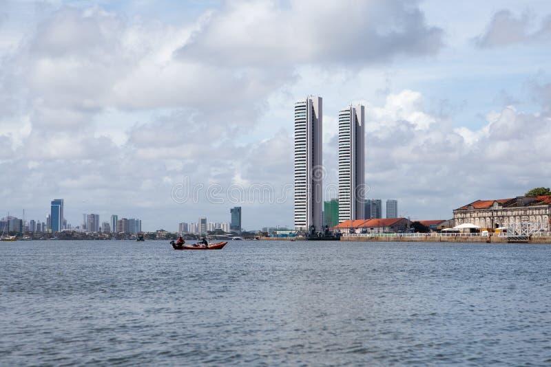 Linia horyzontu Recife w Brazylia zdjęcia stock