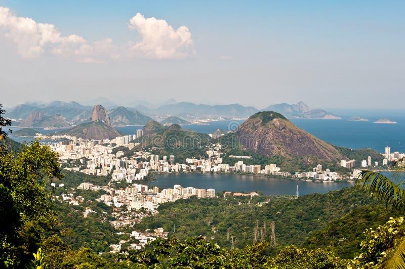 Linia horyzontu Rio De Janeiro, Brazylia zdjęcie royalty free