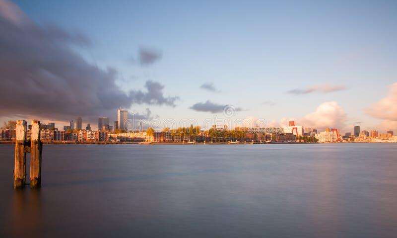 Linia horyzontu Rotterdam zdjęcie stock