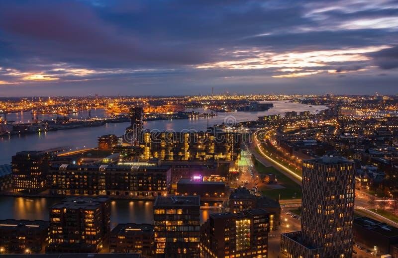 linia horyzontu rotterdamskiej zdjęcia stock