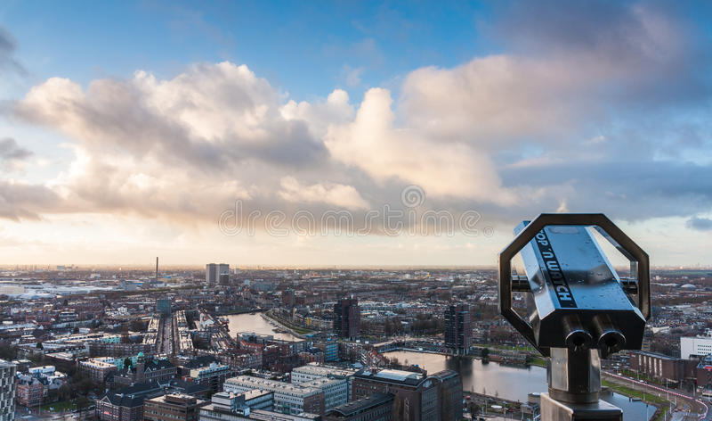 linia horyzontu rotterdamskiej obraz stock