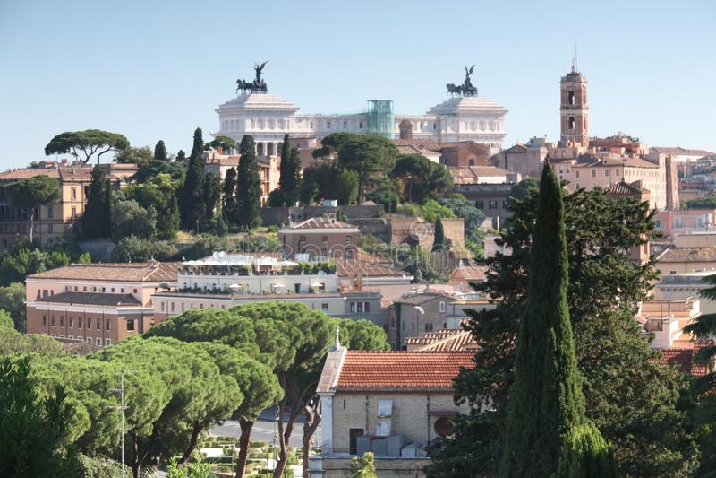 Linia horyzontu Rzym od Aventine wzgórza obraz royalty free