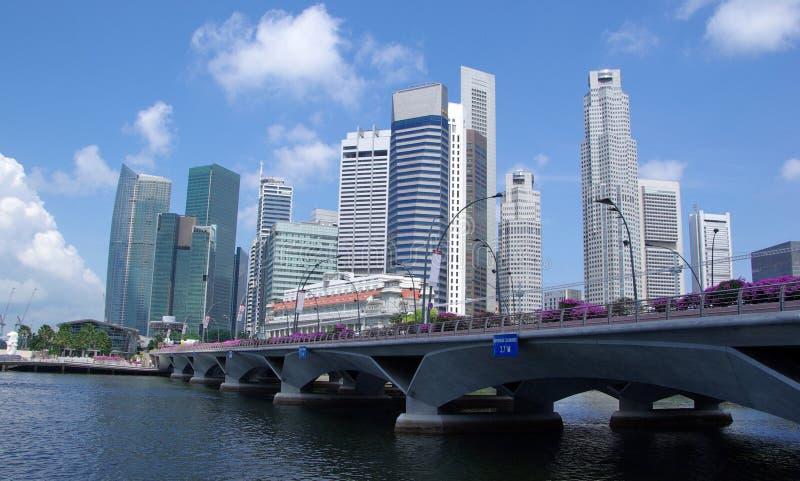 linia horyzontu Singapore miasta. obrazy royalty free
