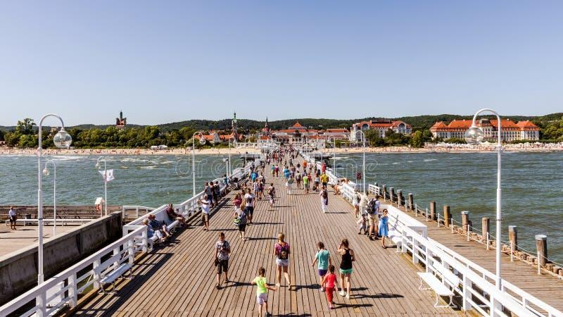Linia horyzontu Sopot obrazy royalty free