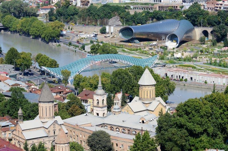 Linia horyzontu stary Tbilisi, widok od Narikala fortecy, Gruzja obrazy royalty free
