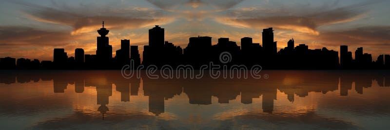 linia horyzontu sunset Vancouver ilustracja wektor