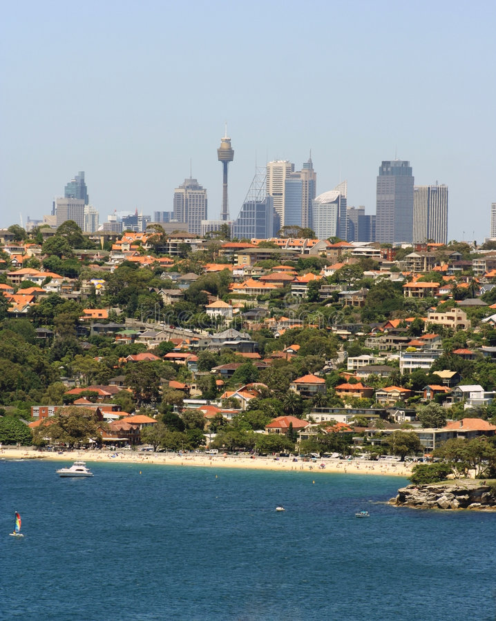 linia horyzontu Sydney australii obraz royalty free