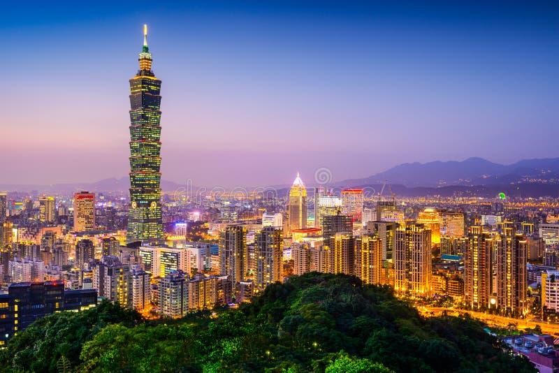 linia horyzontu Taipei obraz stock
