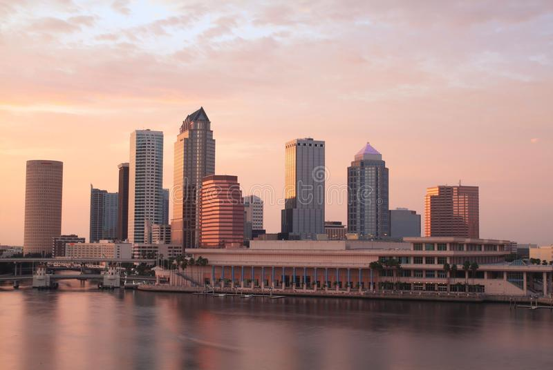 linia horyzontu Tampa obraz stock