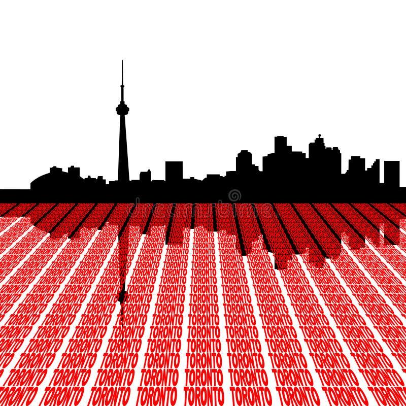linia horyzontu tekst Toronto royalty ilustracja