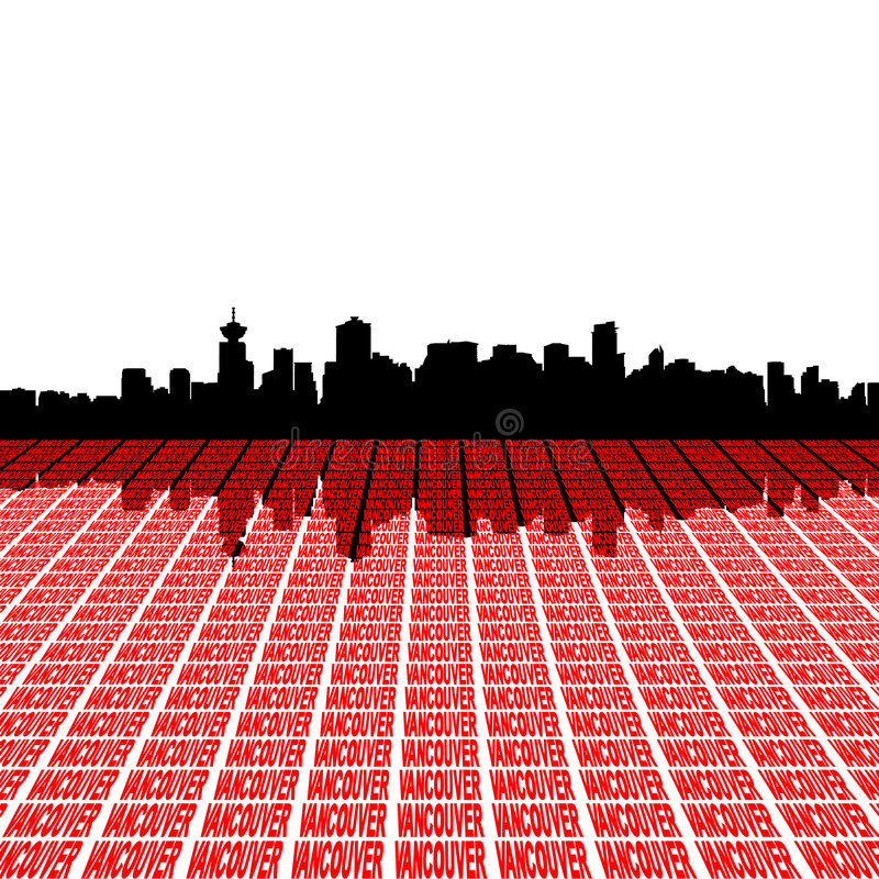 linia horyzontu tekst Vancouver ilustracji
