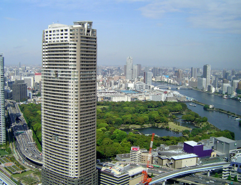 linia horyzontu Tokio zdjęcie stock