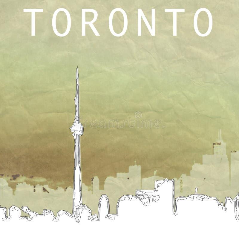 linia horyzontu Toronto ilustracja wektor