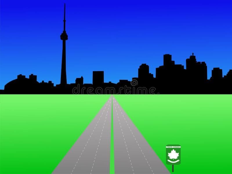 linia horyzontu Toronto ilustracji