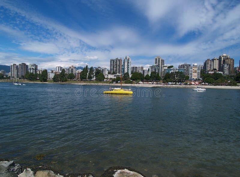 linia horyzontu Vancouver obrazy stock