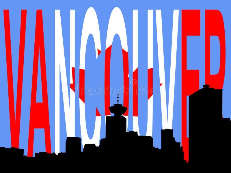 linia horyzontu Vancouver royalty ilustracja