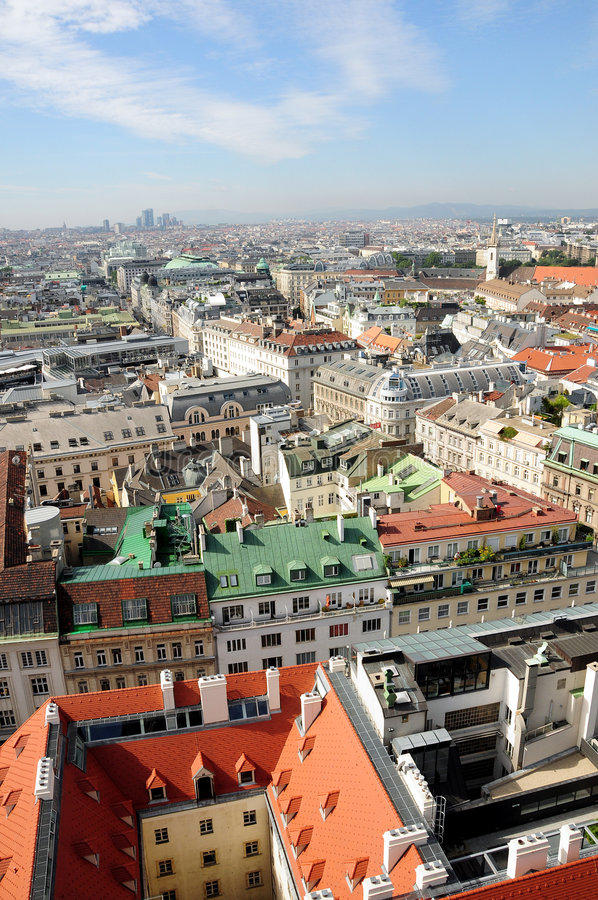 linia horyzontu Vienna zdjęcia stock