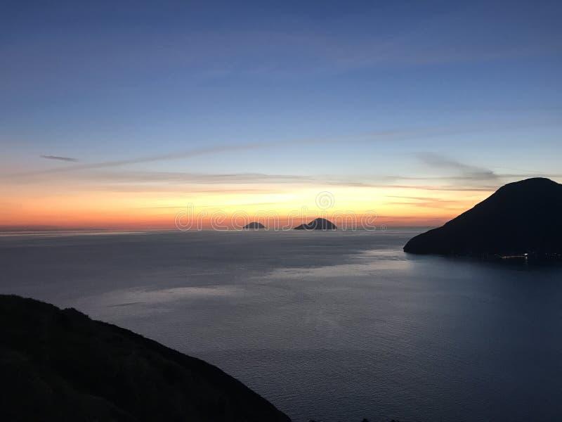 Linia horyzontu w Lipari zdjęcie royalty free