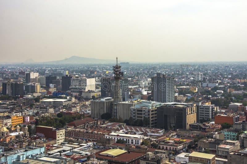 Linia horyzontu w Meksyk, widok z lotu ptaka miasto zdjęcie stock