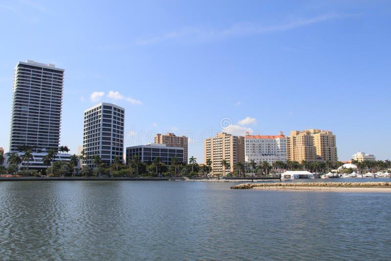 Linia horyzontu w Zachodni palm beach obraz stock