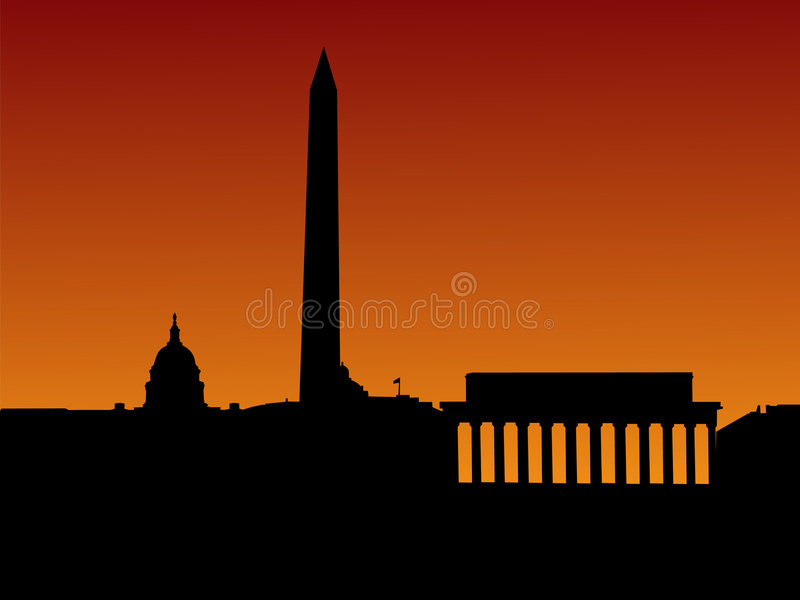 linia horyzontu Washington dc ilustracja wektor