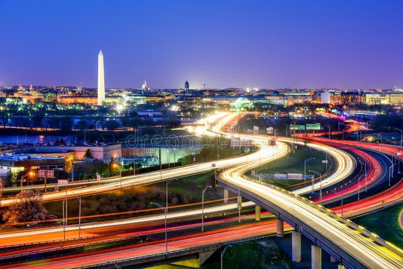 linia horyzontu Washington dc zdjęcia stock