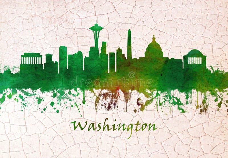 linia horyzontu Washington dc ilustracji