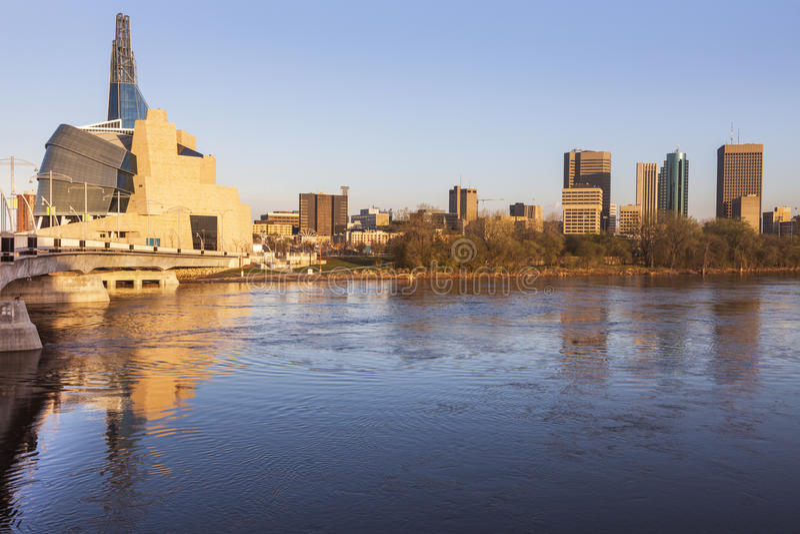 Linia horyzontu Winnipeg obraz stock