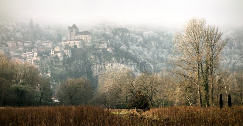 Linia horyzontu wycieczka turysyczna De Faure, udział, Midi Pyrenees, Francja obrazy royalty free
