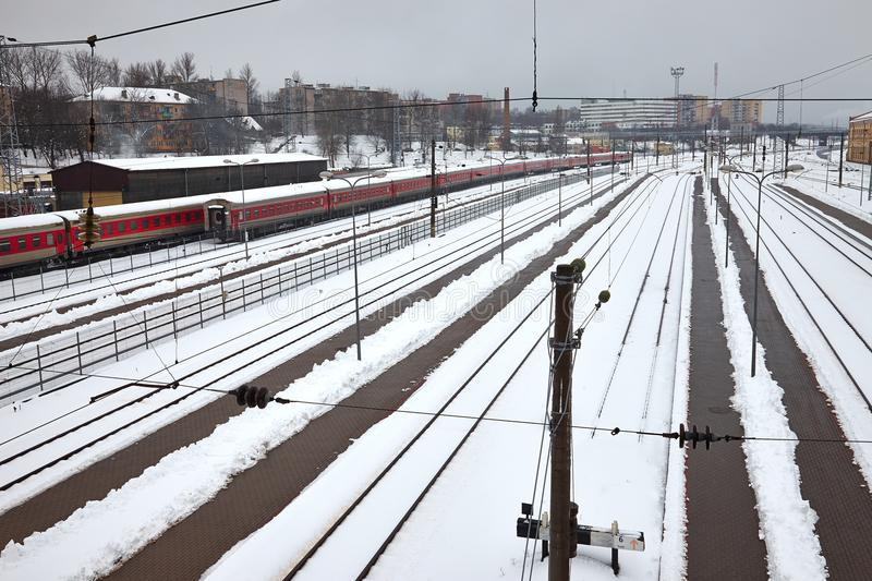 linia kolejowa zdjęcie stock