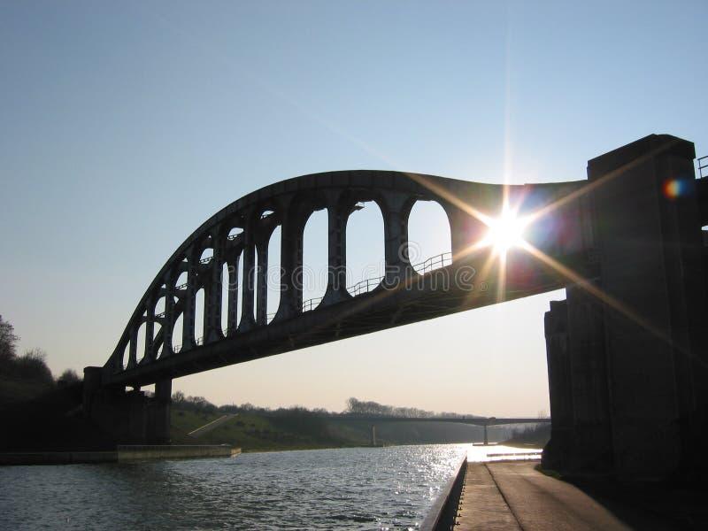 linia kolejowa bridge fotografia royalty free
