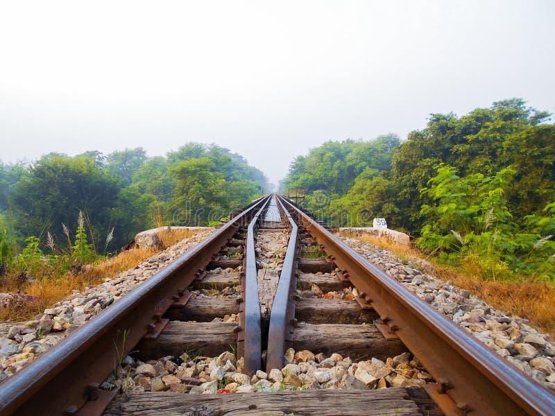 Linia kolejowa most obrazy royalty free