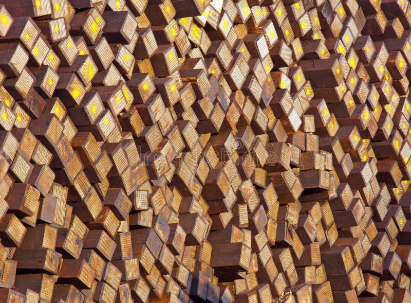 linia kolejowa podkładów drewnianego wietrzeli fotografia royalty free