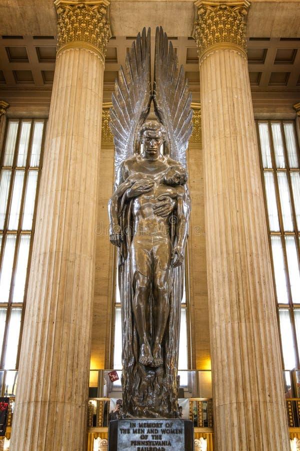 Linia kolejowa pomnik, 30th ulicy stacja, Filadelfia, Pennsylwania obraz royalty free